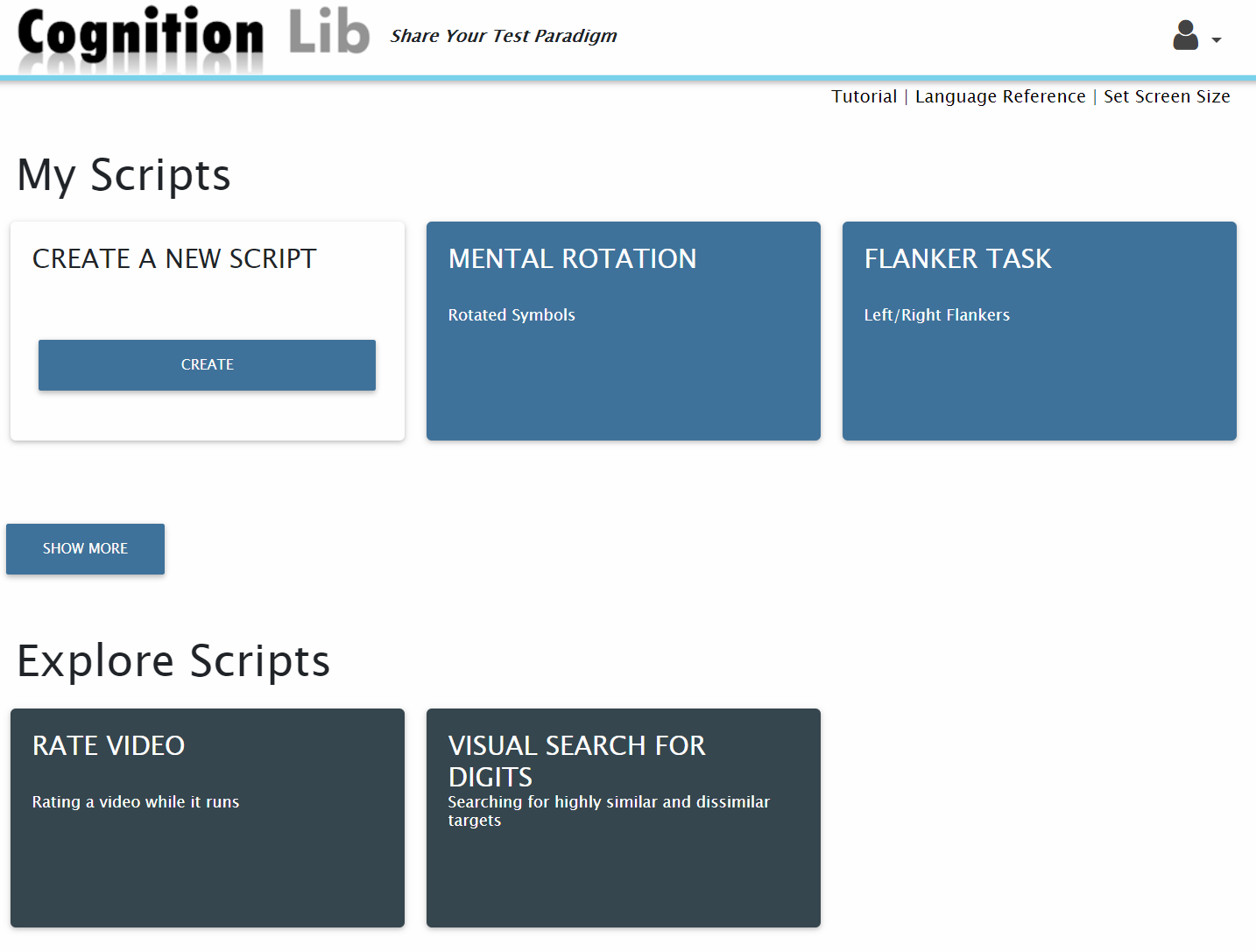 Cognition Lib Homepage